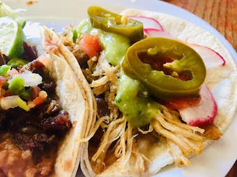 this is an image of a taco made by tacos bravo